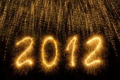 2012 escrito em letras sparkling Foto de Stock