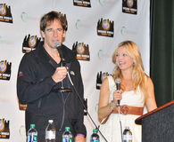 2012 escroquerie comique - Scott Bakula et Clare Kramer Photographie stock