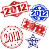 2012 estampilles Images stock