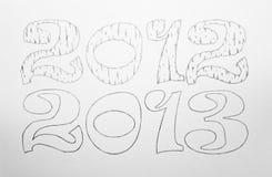 2012 et 2013 Images stock