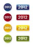 2012 Etiketten Royalty-vrije Stock Foto