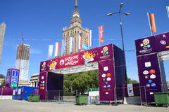 2012 euro fanzone Zdjęcia Stock