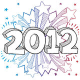 2012 Explosion vector Stock Images