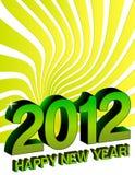 2012 Felices Año Nuevo Foto de archivo libre de regalías