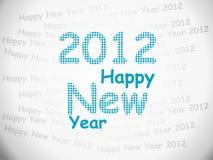 2012 FELICES AÑO NUEVO Imagen de archivo libre de regalías