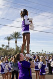2012 Fiesta Bowl Parade College Cheerleaders Royalty Free Stock Photos