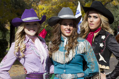 2012 Fiesta Bowl Parade Cowgirls Royalty Free Stock Image