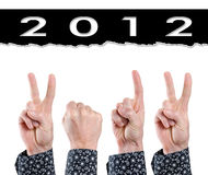 2012 fingers Stock Photography