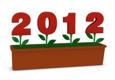 2012 fiori Immagine Stock