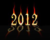 2012 on Fire Royalty Free Stock Images