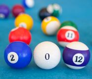 2012 fizeram das bilhar-esferas Fotografia de Stock