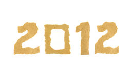 2012 fizeram do número de papel rasgado Imagem de Stock
