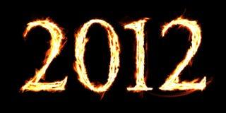 2012 flamas Fotos de Stock Royalty Free
