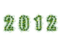 2012 with flowery characters Stock Images