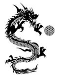 2012 Flying Chinese Dragon with Ball Clipart Royalty Free Stock Images