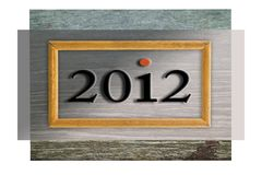 2012 in frame Royalty Free Stock Photography