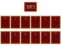 2012 frames calendar. Against white background, abstract vector art illustration Stock Photos