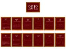 2012 frames calendar. Against white background, abstract vector art illustration vector illustration