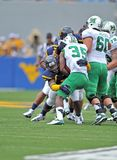 2012 futebol do NCAA - WVU contra Marshall Imagens de Stock Royalty Free
