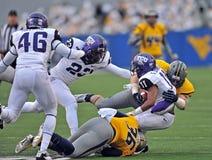 2012 futebol do NCAA - WVU contra o TCU Foto de Stock Royalty Free