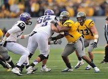 2012 futebol do NCAA - WVU contra o TCU Fotografia de Stock Royalty Free