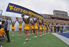2012 futebol do NCAA - WVU contra o TCU Fotos de Stock Royalty Free