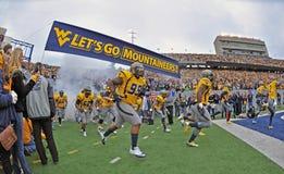 2012 futebol do NCAA - WVU contra o TCU Foto de Stock