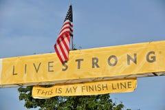 2012 gebeurtenis Livestrong Stock Foto's