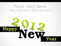 2012 Gelukkig Nieuw jaar Royalty-vrije Stock Afbeeldingen