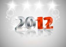 2012 Gelukkige Nieuwjaarskaart Royalty-vrije Stock Afbeelding