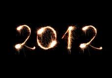 2012 gemaakt van fonkelingen Stock Afbeeldingen
