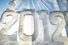 2012 gemaakt van ijs Royalty-vrije Stock Afbeeldingen