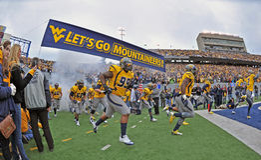 2012 gioco del calcio del NCAA - WVU contro la TCU Fotografia Stock