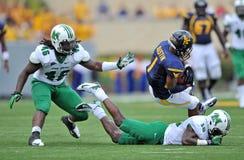 2012 gioco del calcio del NCAA - WVU contro Marshall Fotografie Stock