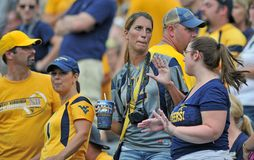 2012 gioco del calcio del NCAA - WVU contro Marshall Immagine Stock Libera da Diritti