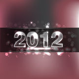 2012 Glass Numbers. New Year Background - 2012 Glass Numbers stock illustration