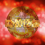 2012 glowing disco ball Royalty Free Stock Photo