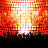 2012 glowing lights and crowd Royalty Free Stock Photo