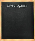 2012 Goals. Resolutions for the new year Stock Image