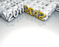 2012 gold number Royalty Free Stock Photography