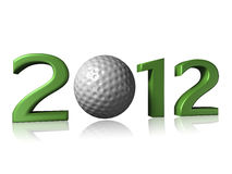 2012 golf design on white background. With a little reflection royalty free illustration