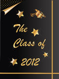 2012 graduation. The Class of 2012 graduation card vector Royalty Free Stock Image