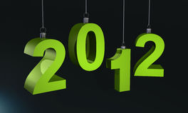 2012 green Royalty Free Stock Photography