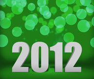 2012 Green New Year Background Stage Stock Image