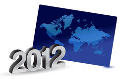 2012 Growth in business illustration Royalty Free Stock Photo