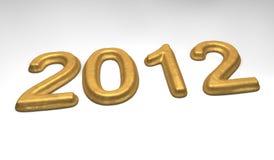 2012 guld- melts för datum Fotografering för Bildbyråer