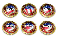 2012 guzików wybory mitenki prezydencki romney royalty ilustracja