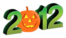 2012 halloween text and design Royalty Free Stock Images