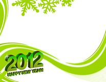 2012 happy new year. Background with snowflakes stock illustration
