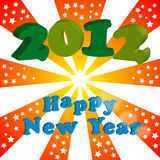 2012 happy new year. Illustration of 2012 happy new year Royalty Free Stock Images